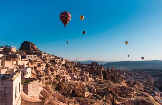 Hot Air Balloon morning flight above Goreme Valley, Cappadocia